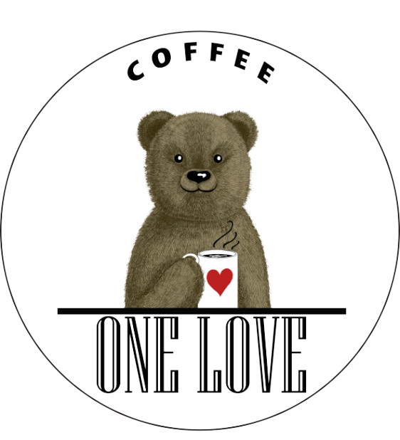 Логотип компании ONE LOVE COFFEE