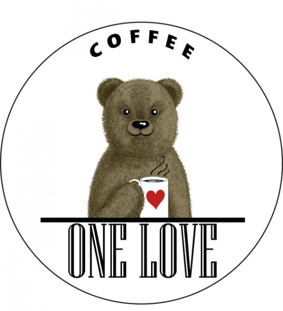 Логотип компании ONE LOVE COFFEE